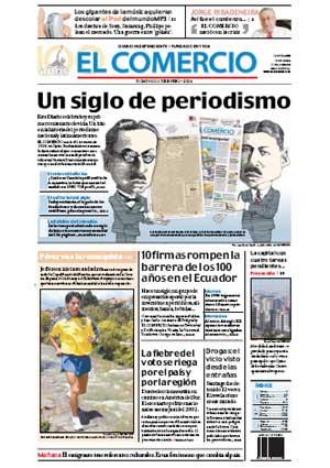 PORTADA CIEN AÑOS DE DIARIO EL COMERCIO