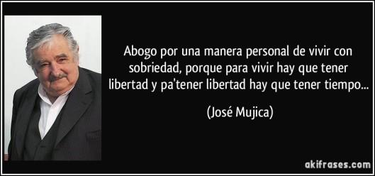 Mujica, frase y foto