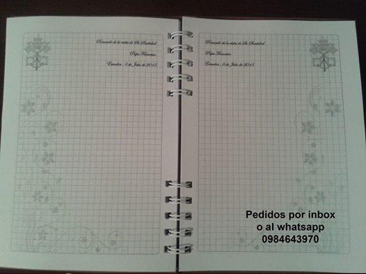 Foto cuadernos Papa
