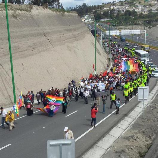 foto marcha indígena agosto 15