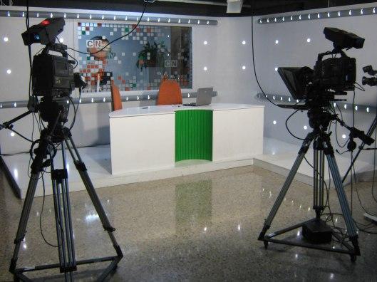 fotografía set de televisión