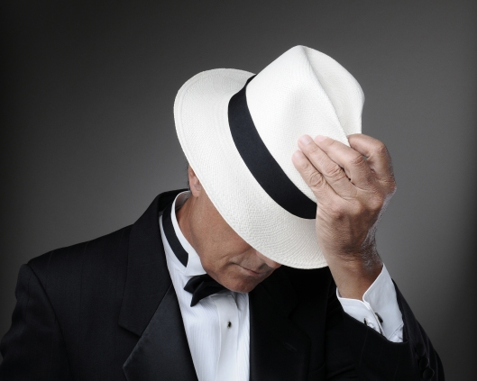 Man in Tuxedo with Panama Hat