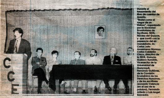 Garzón, Gustavo Presentación en Guayaquil